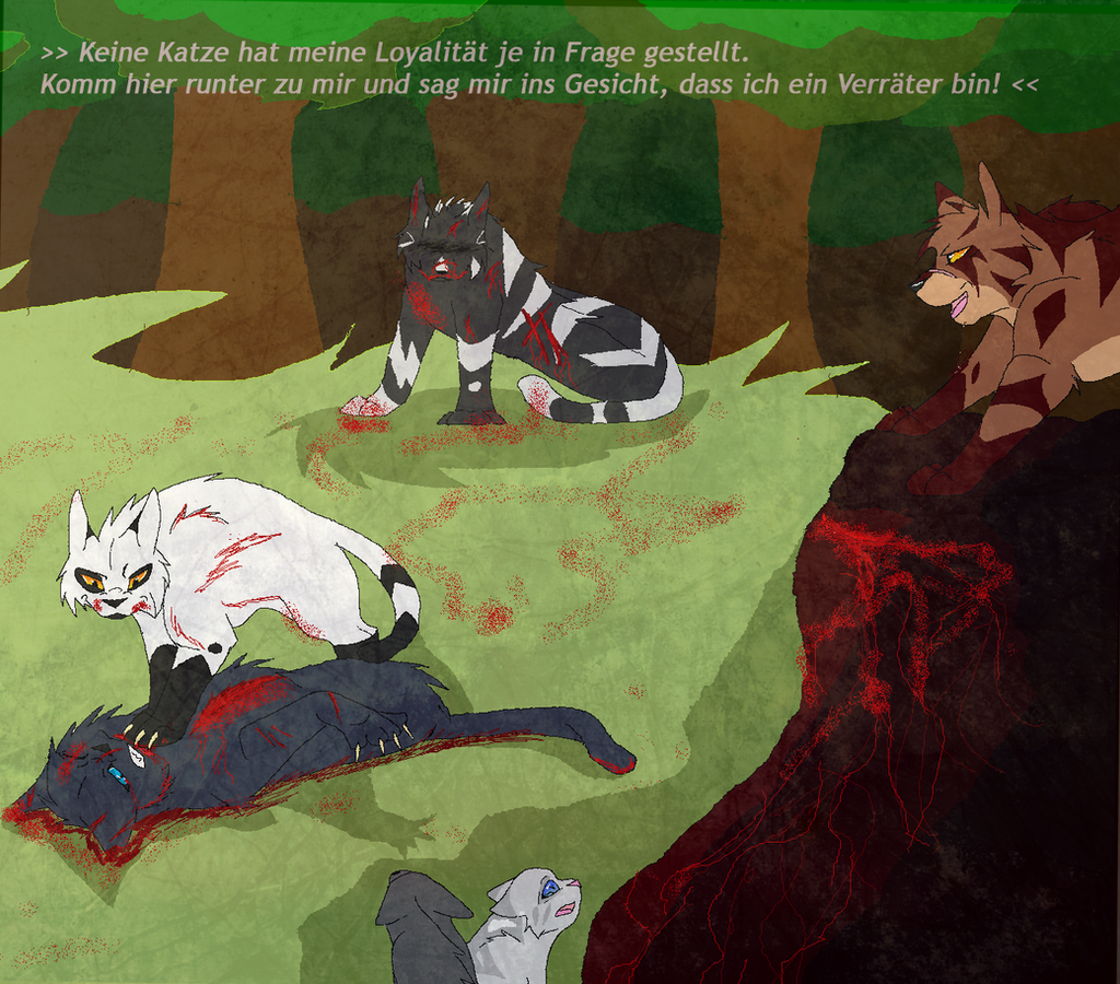 Warrior Cats Dead: Steinfells Tod/ Stonefur's Death By Blue-Krew On DeviantArt