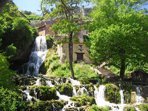 The waterfall town
