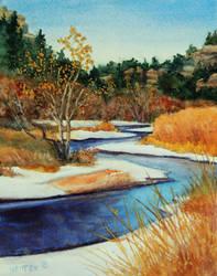 River In Snow