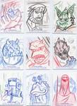 Star Wars-Galactic Files Sketch Cards #5