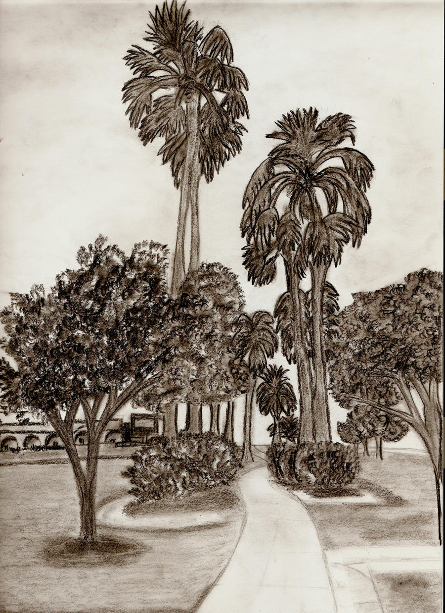 Landscape Drawing Picture_1 by Mytrueartclass