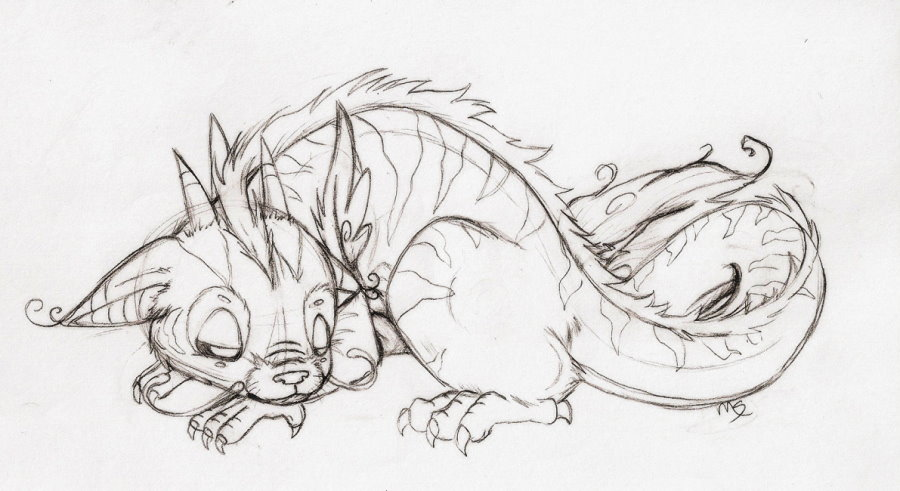 Baby dragon sketch by IX-Demyx-IX on DeviantArt