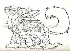 armored kitty -lineys- by IX-Demyx-IX