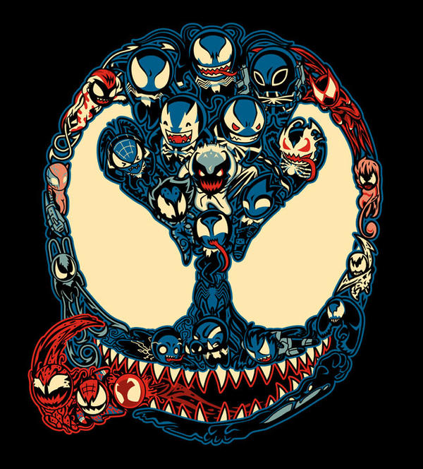 Marvelous Lil Symbiotes by liu-psypher