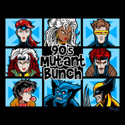 90s Mutant Bunch by liu-psypher