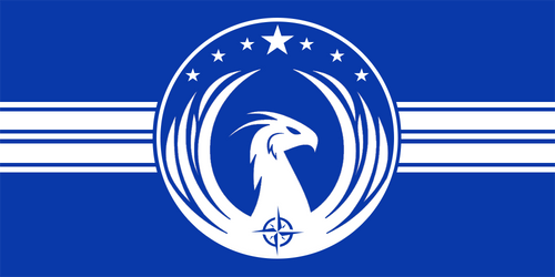 Official State Flag of the Interstellar Federation by Xer0Phase
