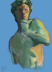 Rough Study of Bronze David (Michelangelo)