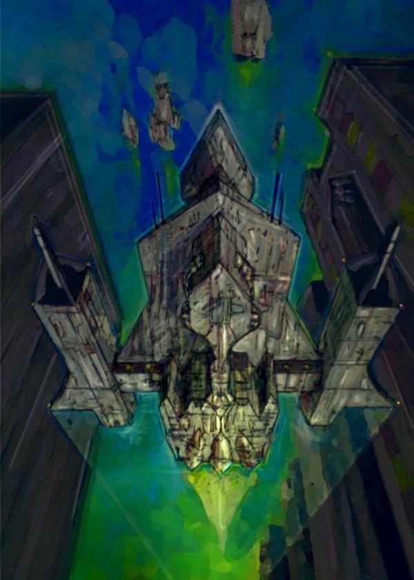 Spaceship by happybuddha