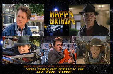HAPPY BIRTHDAY MARTY McFly Back to the Future