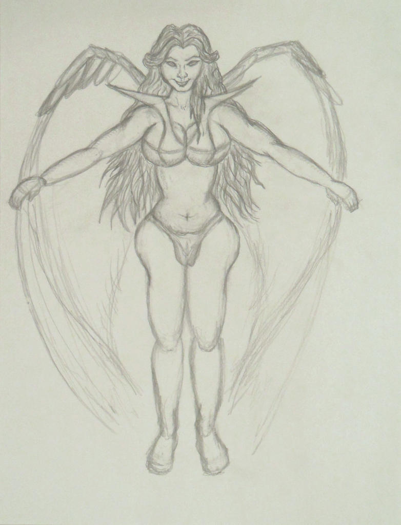 Angel incomplete Sketch attempt 3 June 15th 2013 by ENT2PRI9SE