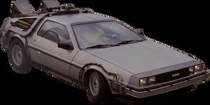 Back to the Future 1985 DeLorean png