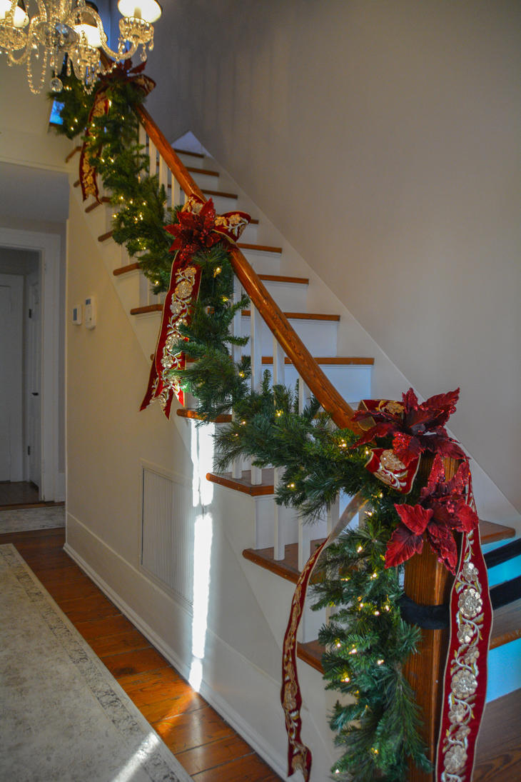 stair rail christmas decorating december 1 2016 by ent2pri9se