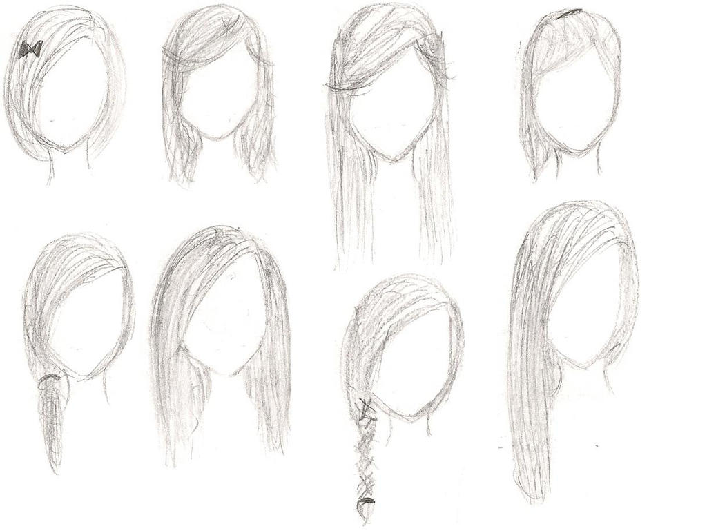 Hair Templates by RapidObsessor on DeviantArt