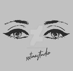 Eyes outline/vector drawing