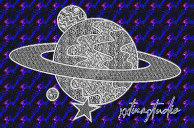 Saturn vector drawing w/ transparent BG