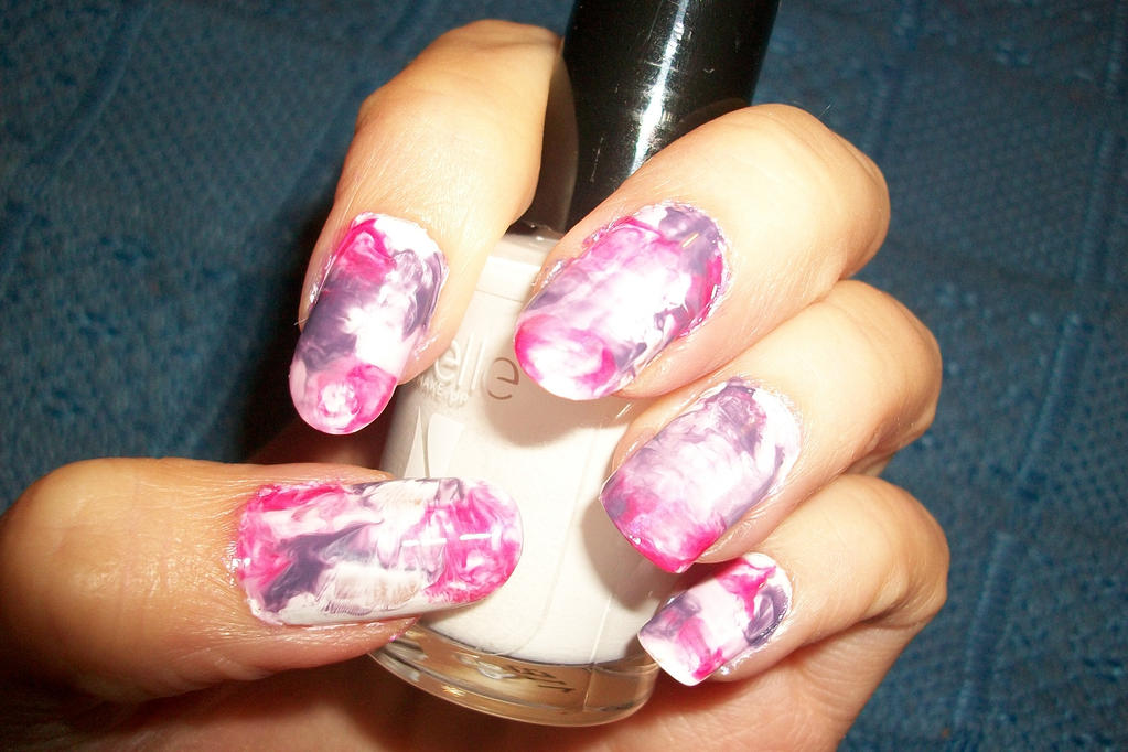marble nail art (without water) by butterfly1980 on DeviantArt