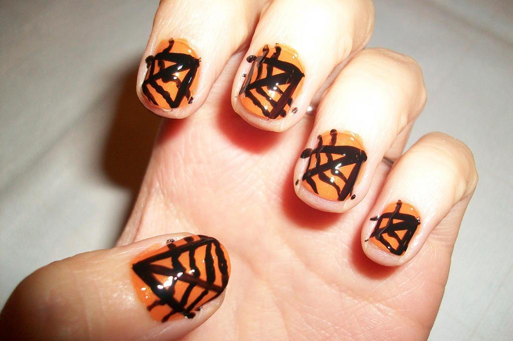 Halloween Spiderweb Nail Art By Butterfly1980 On Deviantart