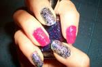 Glitter nail art - manicura brillos