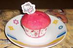 Hello Kitty Raspberry cupcakes 1