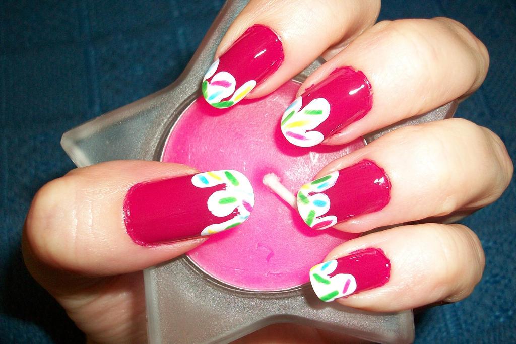 strawberry ice cream nail art