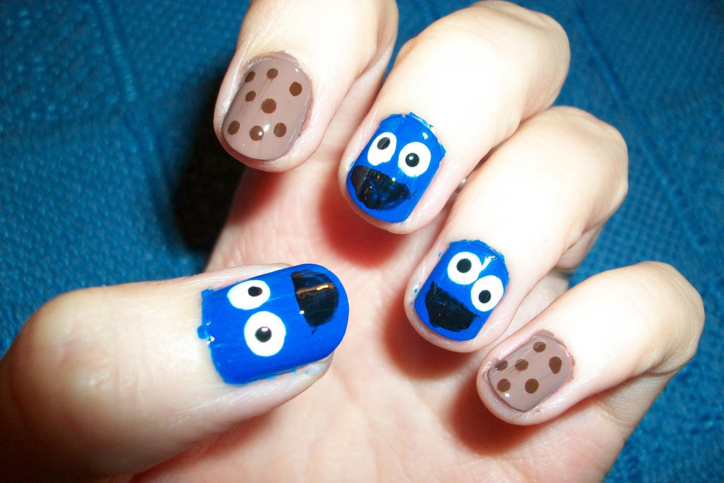 Cookie Monster Nail Art By Butterfly1980 On Deviantart