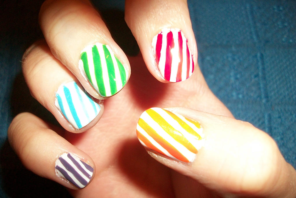 Candy Crush Rainbow Nail Art By Butterfly1980 On Deviantart