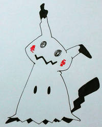Mimikkyu, the adorable new ghostie by ryunysus-the-great