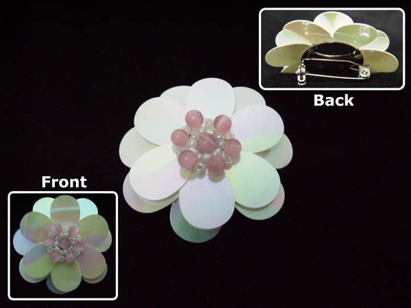 Flower brooch by sweetbabykit