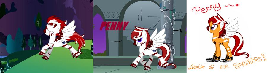 My NEW ponysona Penny by ShibaSnowyNatural