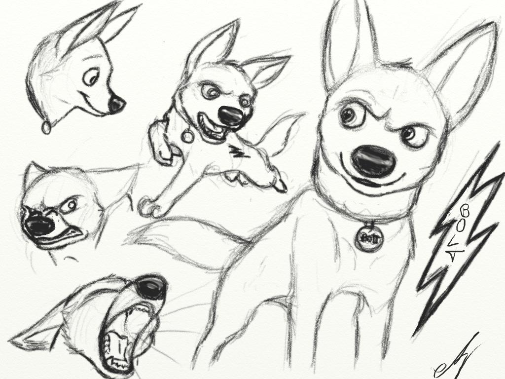 bolt sketches by kanpekinasekai on deviantart