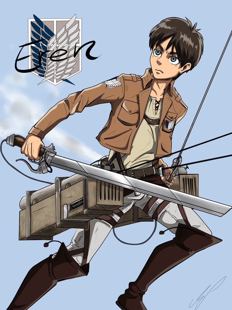 Eren by ShibaSnowyNatural