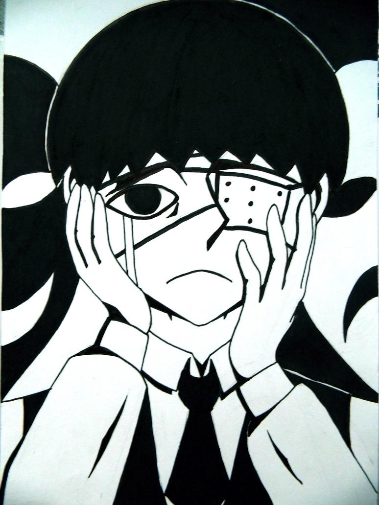 expressionistic Kaneki by ShibaSnowyNatural