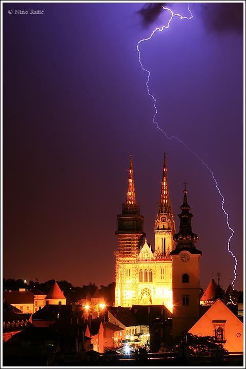 zagrebacka katedrala munje grom