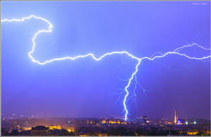 Lightning over Zagreb, Croatia