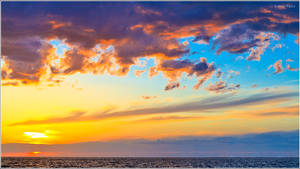 Colorful sunset over the sea by nrasic