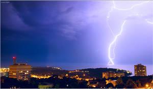 Lightning in Pula, Croatia