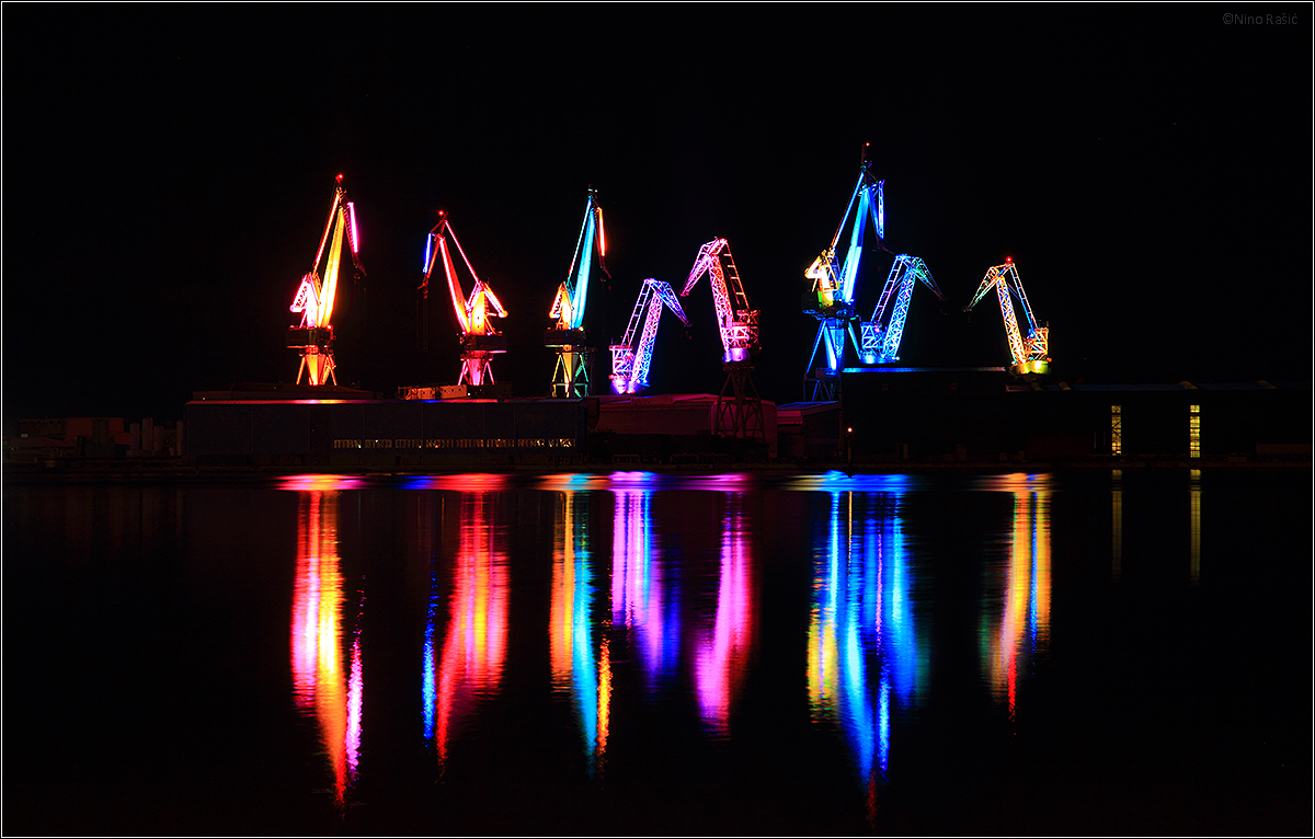 Lighting giants, Pula Croatia