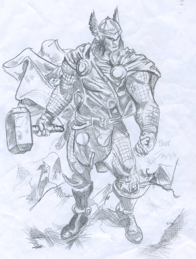 Thorquick pencil sketch by arhang