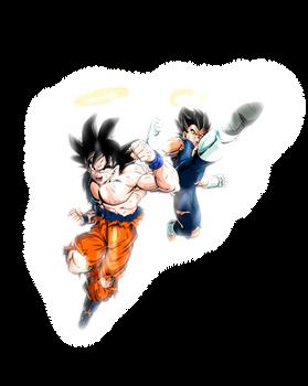 LR Goku and Vegeta [Super Gogeta] w/ Aura