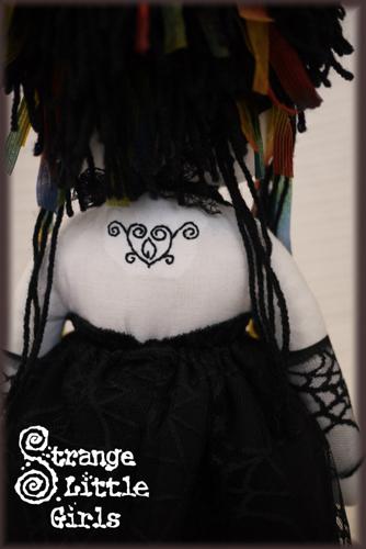 gothic rag doll with tattoo belladonna by strangelittle