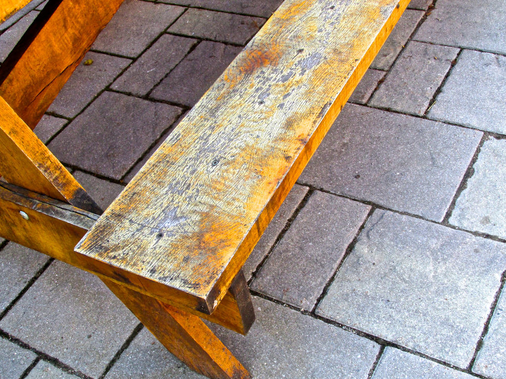 Wooden Bench by 68cupcake