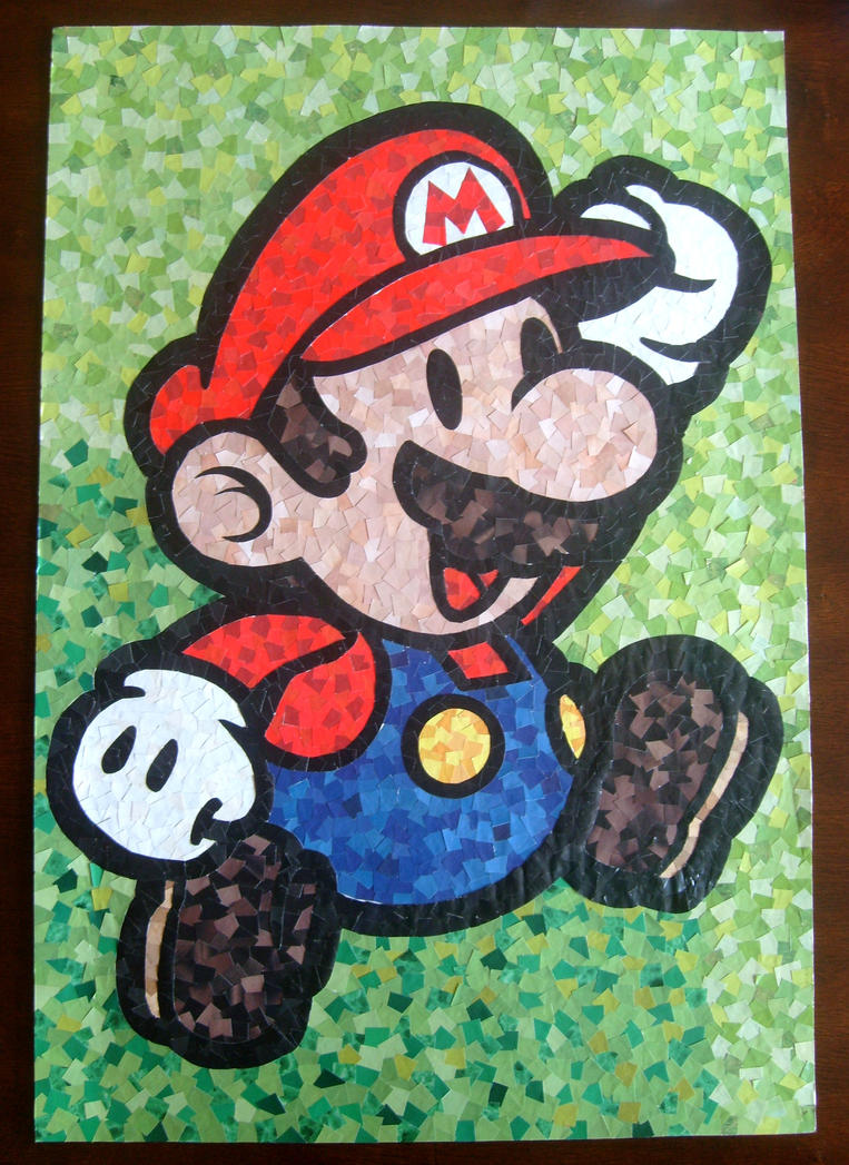 Paper mario mosaic by keyblademaster1 on deviantart for Drawing mosaic pictures