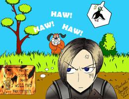Leon vs. Duck Hunt by KeybladeMaster1