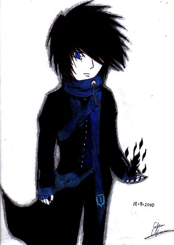 dark anime guy by hikariarcaeon on deviantart