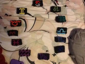 Homestuck Troll Bracelets by Koopa-Doll