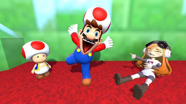 Mario annoying Toad