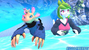 Axol and Melony: Underwater