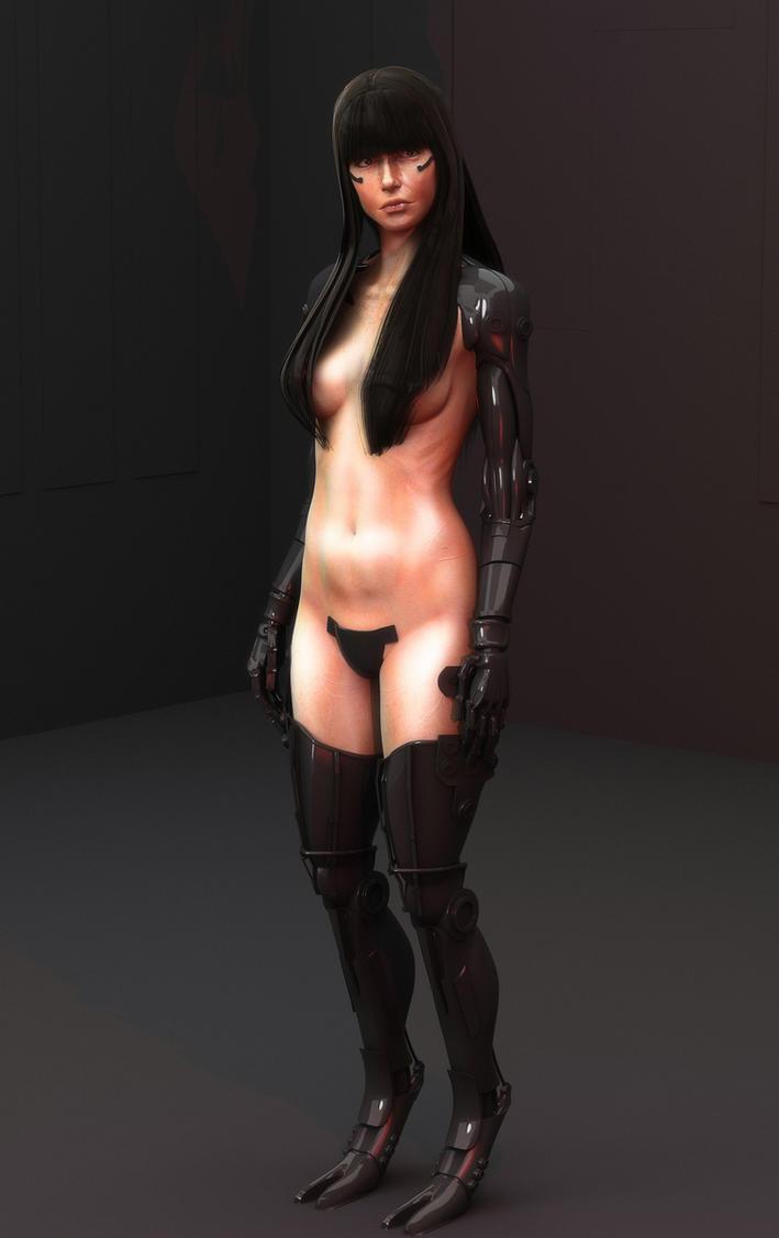 Female Cyborg by Rowoss