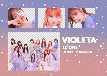 PNG PACK IZ*ONE - VIOLETA by lillychanel