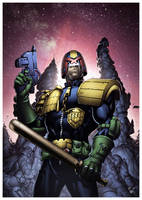 Dredd in all his glory by pencilsandstrings